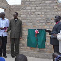 Pastor Peter Dotto, General Secretary Singili, Pastor Mashauri, Bishop Salala and the Assistant Bishop during the Sunday School Building dedication.