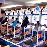 exercising games at joypolis at Odaiba in Odaiba, Tokyo, Japan