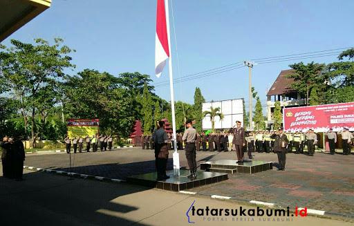 Peringatan Hari Lahir Pancasila, Polres Sukabumi Bacakan Sambutan Presiden