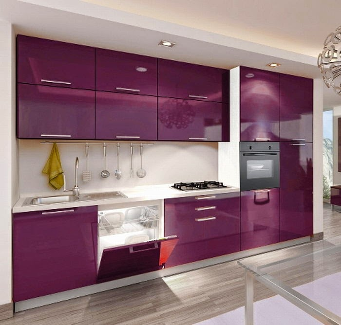 Stunning Cucina Color Melanzana Contemporary - Ideas & Design 2017 ...