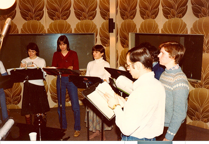 Recording session for CFMO -- about 1978