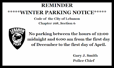 Winter Parking Ban Postcard