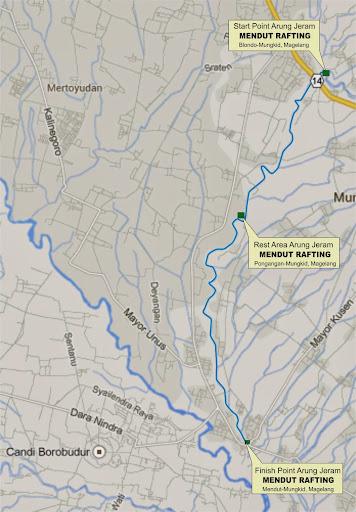 maps Lokasi Arung Jeram Sungai Elo