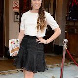 WWW.ENTSIMAGES.COM -      Lucie Jones  arriving at          FORBIDDEN BROADWAY - Press Night at Vaudeville Theatre London September 15th 2014Phillip George directs return of Gerard Akessandrini's comedy revue which, when it was first performed in New York, poked fun at a range of Broadway stars including Whoopi Goldberg and Elaine Paige.                                             Photo Mobis Photos/OIC 0203 174 1069