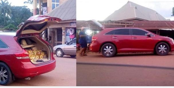 Expensive whip, Toyota Venza used in selling bread spotted in Anambra state