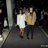 WWW.ENTSIMAGES.COM -  George Reid; Aluna Francis  arriving at The BRIT Awards 2013 - shortlist  nominations announcement at The Savoy Hotel, Strand, London January 10th 2013 Photo Mobis Photos/OIC 0203 174 1069