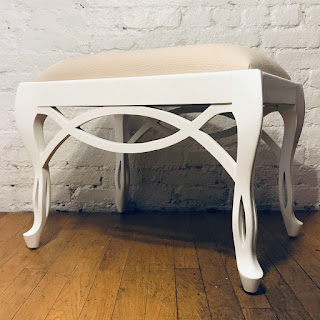 Lacquered White Bench #1