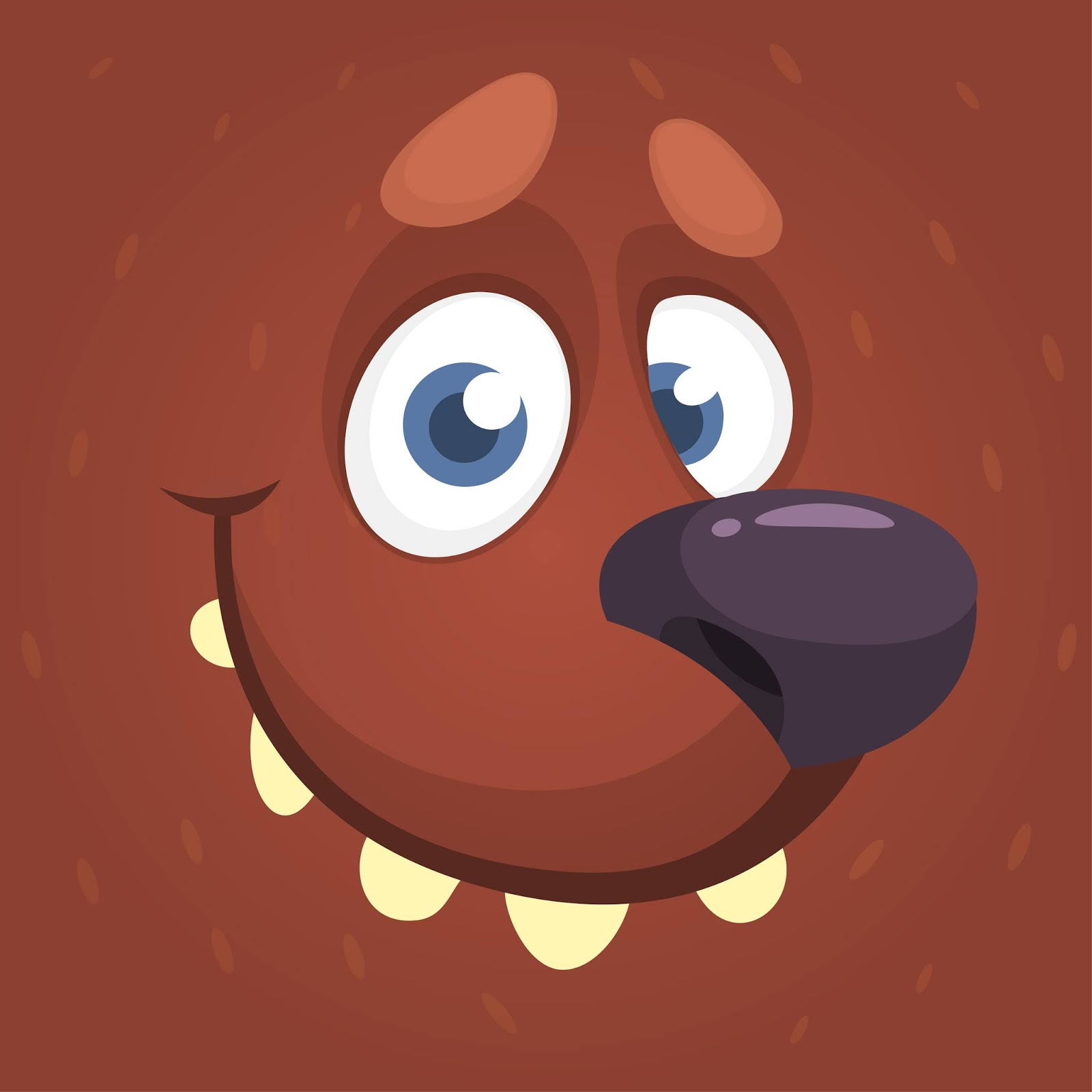Cartoon Funny Bear Face Illustration Free Download Vector CDR, AI, EPS and PNG Formats