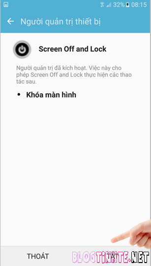gỡ bỏ Screen Off and Lock trên Samsung Galaxy J7 Prime