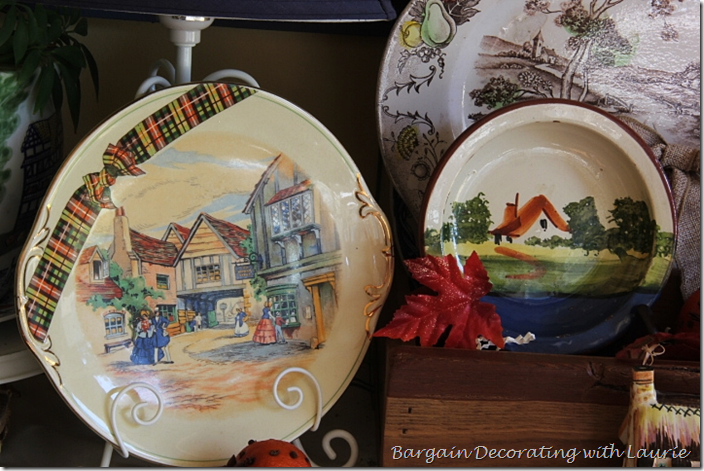 Fall Village depiced on Plate