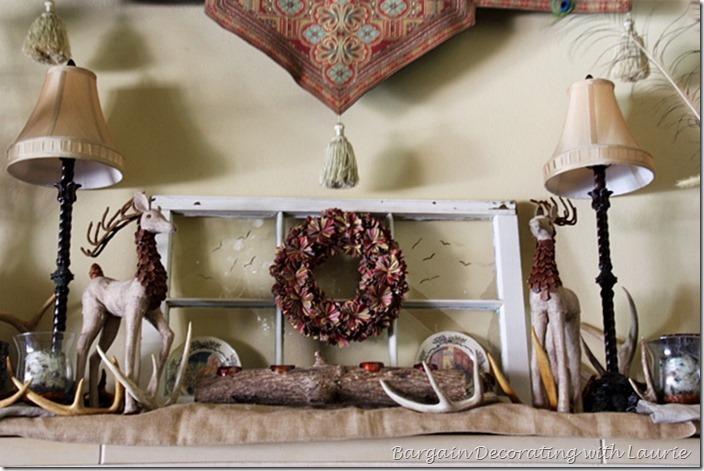 A Walk Through the woods on the mantel