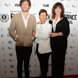 WWW.ENTSIMAGES.COM -   James Norton , Tessa Peake Jones  and Josie Lawrence    arriving at        World Premiere of Bonobo at the 22nd annual Raindance Film Festival in Vue Piccadilly, London September 25th 2014Feature length which follows a straight laced middle-aged widow as she attempts to remove her daughter from a hippy commune.                                               Photo Mobis Photos/OIC 0203 174 1069