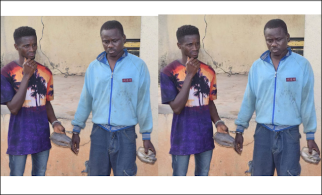 Two Men With Human Wrists Arrested In Osun State (Photos)