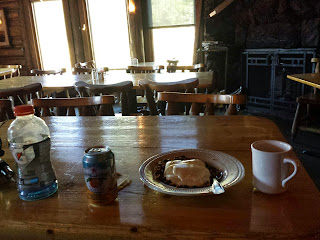 Grabbed some coffee and granola at the Galena Lodge. It was a nice break from the frosty morning.