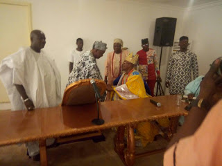 Notable first class monarchs across Osun State are currently in a move forward Yoruba race peace meeting at Ile-Ife, the cradle of the Yoruba kingdom.