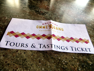 Ommegang Brewery offers tours as well as tastings (separately, but you can buy both) every 30 minutes or 1 hour depending on the season.