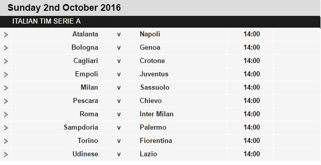 Serie%2BA%2Bschedule%2B7 Planning a Football Trip to Italy - SERIE A FIXTURES 2016/17
