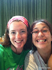"""Anne Marie and I at brunch - this was our second Race together and our two year """"In Real Life"""" Friend-a-versary!"""