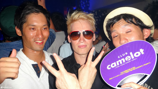 party time at Club Camelot - one of the better clubs in Shibuya in Shibuya, Tokyo, Japan