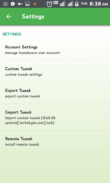 Tweakware Import Tweak File For ? Glo 0.0k ?