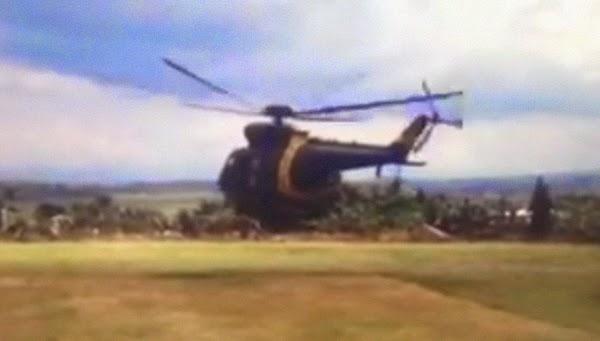 Escort Chopper of Mar. Roxas crashes