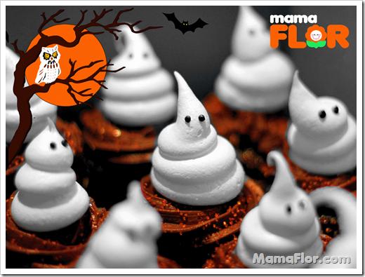 Cupcakes Fantasmas Halloween