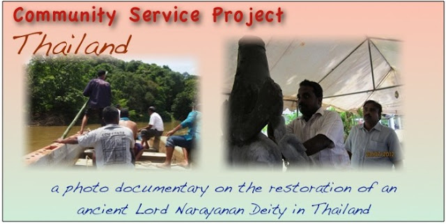 Photo documentary on restoration of an ancient lord narayanan deity in thailand