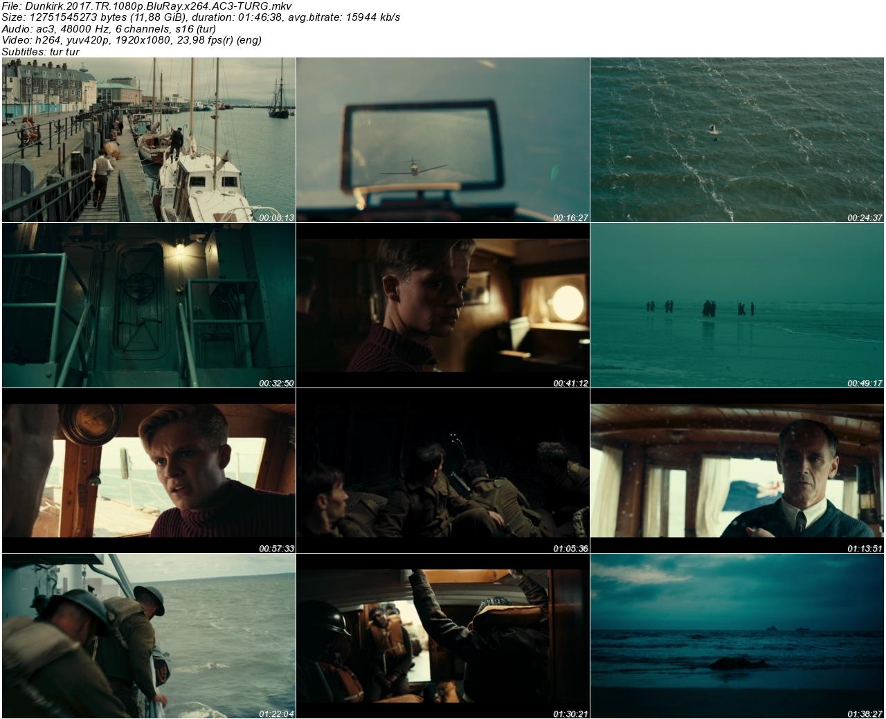 Dunkirk 2017 - 1080p 720p 480p - Türkçe Dublaj Tek Link indir