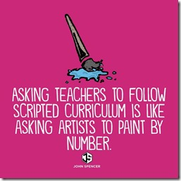Asking teachers to teach from a script is like asking an artist to paint by numbers.