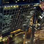 night view of Tokyo streets in Shinagawa, Tokyo, Japan