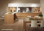 Cucina Snaidero modello Sistema Zeta legno rovere e laminato bianco