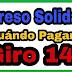 Fechas de pago del giro 14 de la Ingreso  Solidario