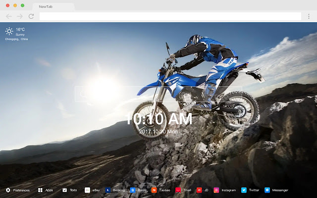 Motorcycle HD Popular Cars New Tabs Theme