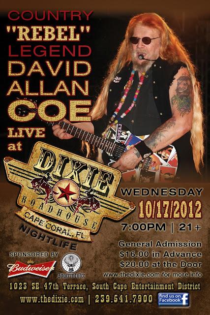 David Allan Coe 4x6 Flyer