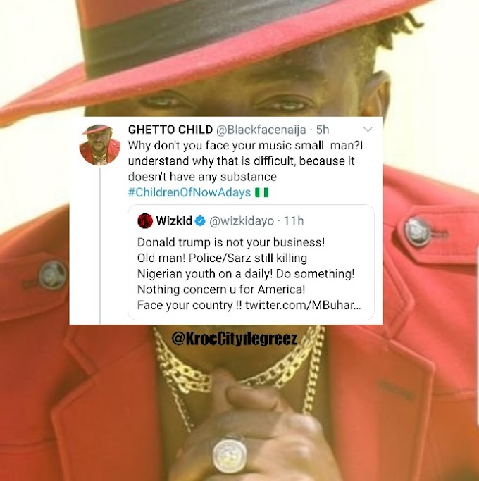 Blackface attacks Wizkid over Comment on Police Brutality