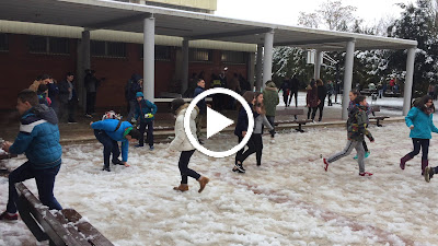 Nieve en el instituto