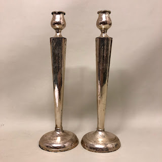 """Sterling Silver 11"""" High Candle Stick Pair"""