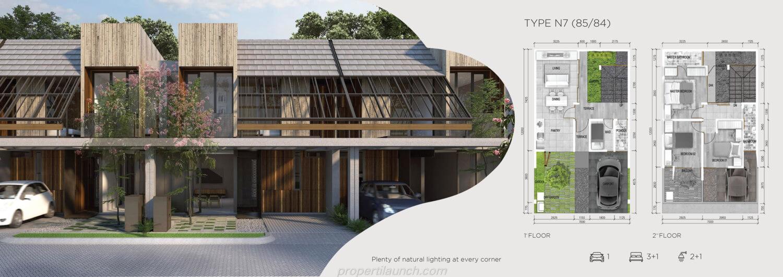 Rumah Asera Nishi Harapan Indah Bekasi Tipe N7