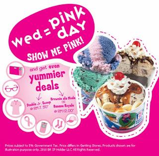 Pink Day Baskin Robbins
