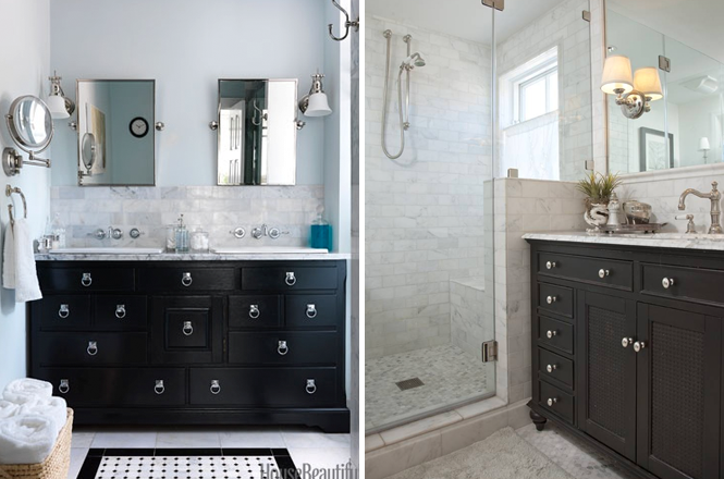 First Row Left Editor Zim Loy S Master Bath Featured In House Beautiful S Unique Bathrooms Cool And Creative Bathroom Design Ideas Photo By Jonny