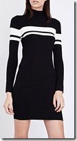 Mo&Co stripe detail rib knit dress