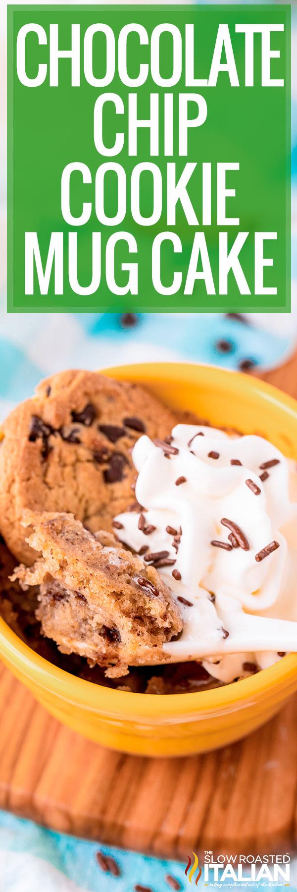 Spoon Chocolate Chip Cookie Mug Cake