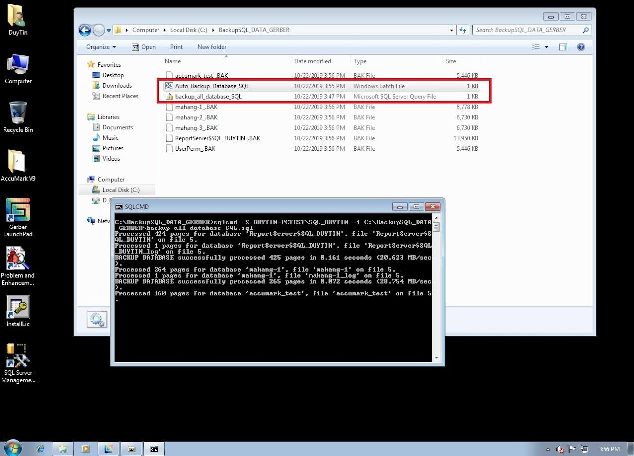 Hướng Dẫn Backup Và Restore Databases Gerber Accumark Trong SQL Server 19
