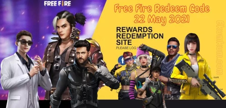Free Fire Redeem Code 22 May 2021 FF | Free Fire Redeem Code Today Indian Server