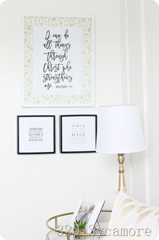 teenage girl framed quotes bedroom