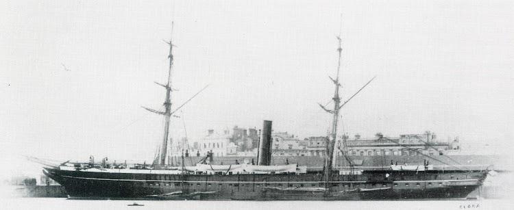 ELLORA, ex CADIZ en lugar y fecha indeterminados. Del libro P&O A Fleet History.jpg