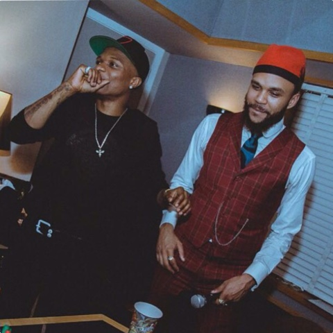Wizkid and Jidenna in the studio