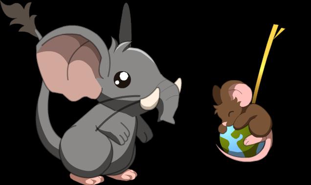 pelo elefante cauda globo