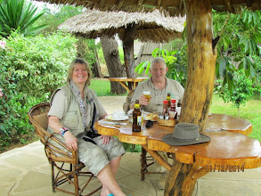 Photo: New tents at Kibo Safari Camp - Amboseli.   Lunch outside when we arrived after a night in Nairobi and left Nairobi after breakfast - approx 4 hour drive