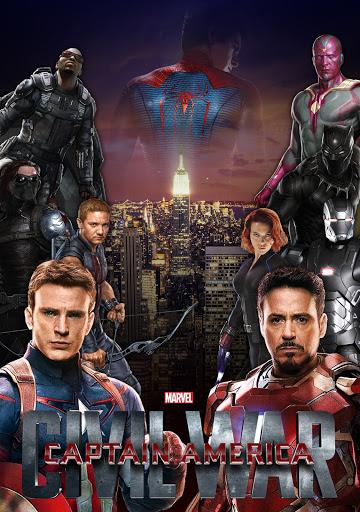 poster Capitão América - Guerra Civil
